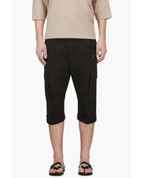 Balmain Black Slim Fit Cargo Biker Shorts