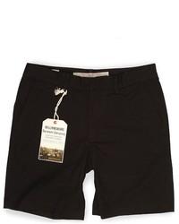 Williamsburg Garment Co Black Tailored Chino Shorts
