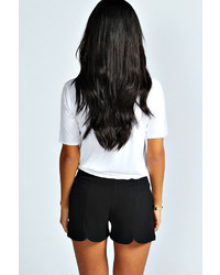 Boohoo Kimberly Scallop Shorts