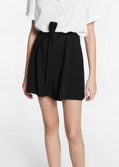 Mango Outlet Bow Flowy Shorts   Where to buy & how to wear