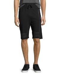 Helmut Lang Brushstroke Logo Track Shorts Black