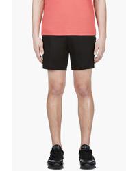 Calvin Klein Collection Black Cotton Piqueacute Shorts