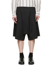 Comme des Garcons Comme Des Garons Homme Plus Black Satin Pleated Shorts