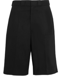 Vetements Cotton Blend Twill Shorts Black