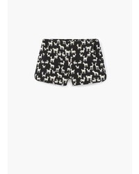 Mango Outlet Cotton Jacquard Shorts