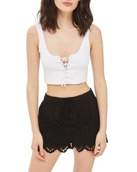 Topshop Cutwork Shorts