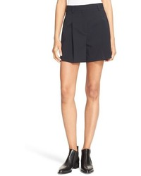 DKNY Pleated Crepe Shorts