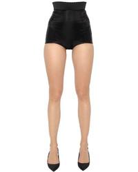 Dolce & Gabbana High Waisted Silk Charmeuse Shorts