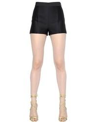 Dsquared2 High Waist Wool Silk Blend Shorts