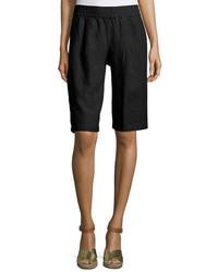 Eileen Fisher Long Organic Linen Shorts