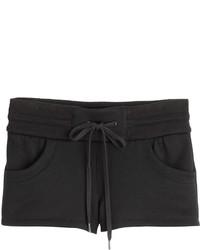Helmut Lang Fleece Cotton Shorts