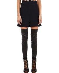 Givenchy High Waist Ladder Stitch Cady Shorts