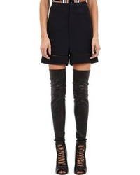 Givenchy High Waist Ladder Stitch Cady Shorts