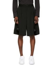 Comme des Garcons Homme Plus Black Silicone Train Shorts