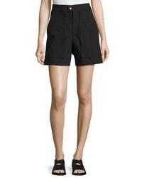 Isabel Marant Flare Leg High Waist Shorts Black