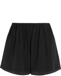 Elizabeth and James Jackie Silk Chiffon Shorts Black