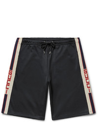 Gucci Jacquard Trimmed Jersey Shorts