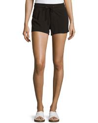 James Perse Drawstring Cotton Shorts Black