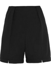 Kenzo High Rise Cotton And Linen Blend Shorts