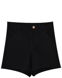ChicNova Loose Fit High Waist Denim Shorts With Turn Ups