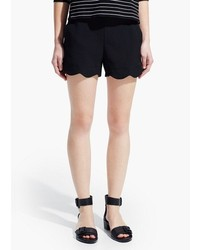 Mango Scalloped Hem Shorts