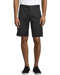 Marcelo Burlon County of Milan Marcelo Burlon Straight Leg Shorts With Side Zip Pockets Black