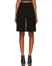 McQ by Alexander McQueen Mcq Alexander Mcqueen Black Pleated High Waisted Shorts