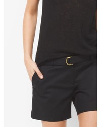 Michael Kors Michl Kors Double Face Stretch Cotton Shorts