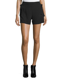 See by Chloe Mid Rise Slim Leg Shorts Black