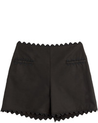 Moschino Cheap & Chic Moschino Cheap And Chic Cotton Shorts With Scalloped Trim
