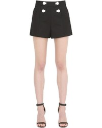 Moschino Stretch Cotton Satin Shorts