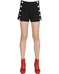 Moschino Techno Crepe Shorts With Buttons