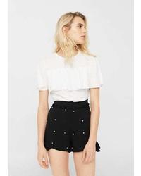 Mango Pearl Flowy Shorts