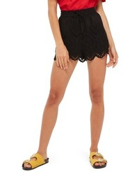 Topshop Petite Broderie Anglaise Shorts
