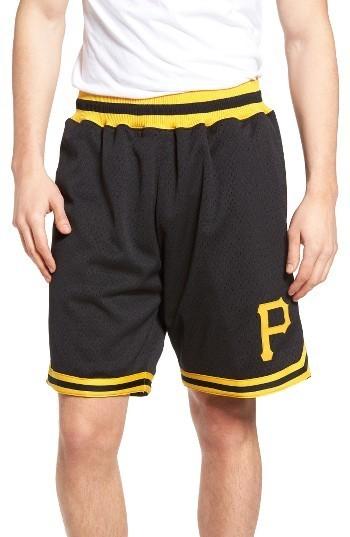 new product 45425 b22db $125, Mitchell & Ness Playoff Win Pittsburgh Pirates Mesh Warm Up Shorts