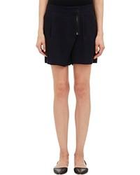 Sea Pleat Front Shorts Black