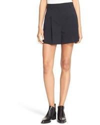 DKNY Pleated Crepe Shorts