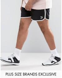 Puma Plus Retro Mesh Shorts In Black To Asos