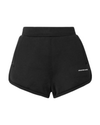 T by Alexander Wang Printed French Cotton Blend Terry Shorts