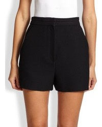 Proenza Schouler Crepe Suiting High Waist Shorts