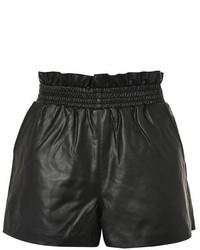 Topshop Pu Paperbag Shorts
