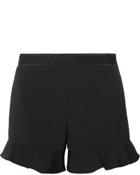 RED Valentino Redvalentino Ruffled Cady Shorts Black