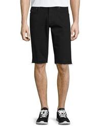 True Religion Ricky Flap Pocket Cutoff Shorts Black