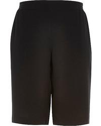 River Island Black Sporty Side Stripe Shorts