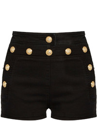 Balmain Sailor Stretch Denim Shorts