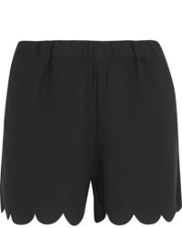 Madewell Scalloped Crepe Shorts Black