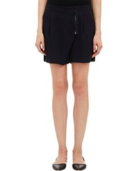 Sea Pleat Front Shorts Black