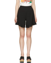 See by Chloe See By Chlo Black Ruffle Shorts