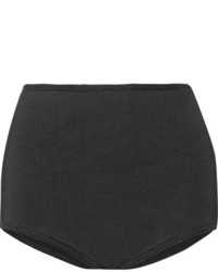 Balmain Stretch Knit Shorts Black
