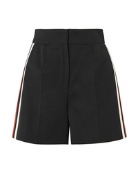 Alexander McQueen Striped Wool Shorts